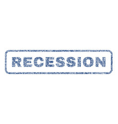 Recession textile stamp vector