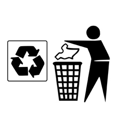 Recyle bin graphic vector