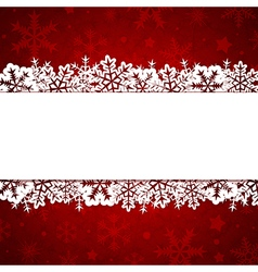 Red decorative Christmas background with snow vector image