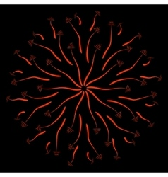 red leaves on a black background-01 vector image