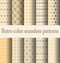 retro color seamless pattern vector image
