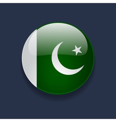 Round icon with flag of Pakistan vector