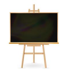 School blackboard wooden frame classic vector