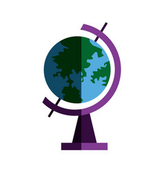 School globe geography navigation location map vector