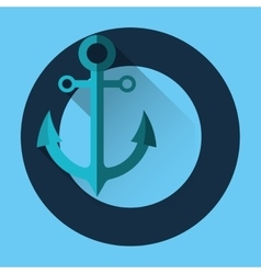 Sea nautical anchor vector