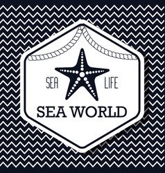 Sea world life isolated vector