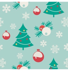 seamless pattern for christmas set different vector image