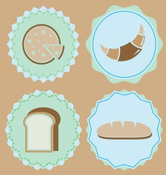 Set homemade bakery icon color badges vector