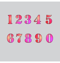Set numbers vector image
