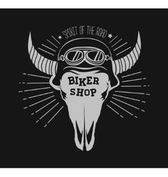 skull bull design element vector image