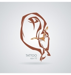 Sleeping fox Tattoo Tribal vector image