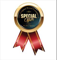Special offer retro vintage golden label vector