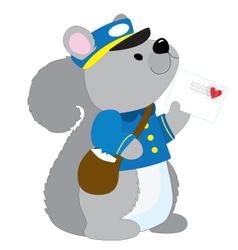 Squirrel Postman vector