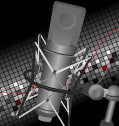 studio mic vector image