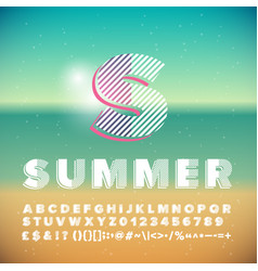 Summer poster display font vector