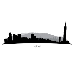Taipei skyline vector