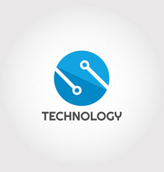 Technology logo design with letter s combination vector