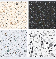 terrazzo textures set seamless terrazzo vector image