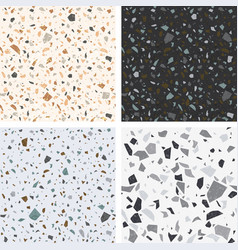 Terrazzo textures set seamless vector
