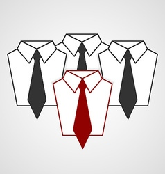 Tie and shirt design business flat concept vector