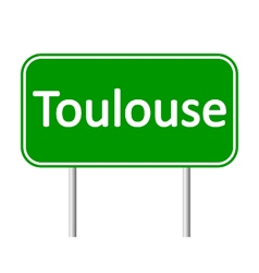 Toulouse road sign vector