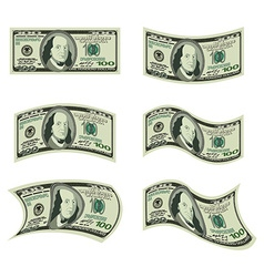 USA money Set of dollars Developing cash of vector image