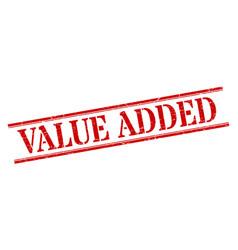 Value added stamp value added square grunge sign vector