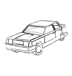 Vintage 90s style truck car icon image vector