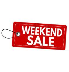 Weekend sale label or price tag vector