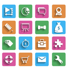 Modern Flat Icons vector image vector image