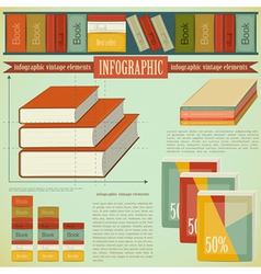 Vintage infographics set - Book vector image vector image