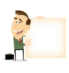 advertisement from happy businessman vector image vector image