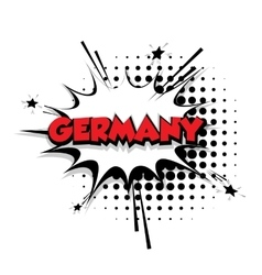 Comic text Germany sound effects pop art vector image vector image