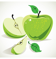 Green apple vector image