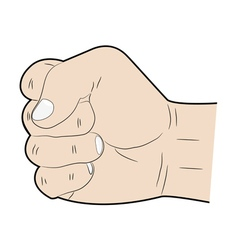 hand fist vector image vector image
