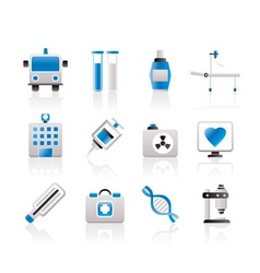 medicine and healthcare icons vector image vector image