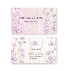 template business card for flower shop vector image