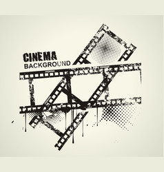 template grunge cinema poster grunge banner with vector image