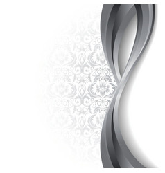 white and silver background vector image vector image
