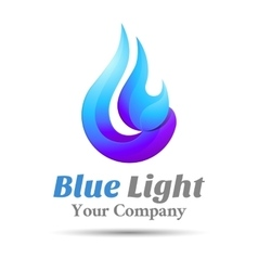 Flame Blue logo template business icon vector image vector image