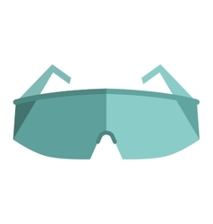 Glasses eye protection vector image