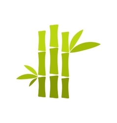 Green bamboo stem flat icon vector image vector image