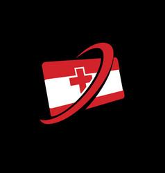 medical contact card vector image