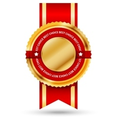 Premium golden and red Best Seller label with vector image vector image