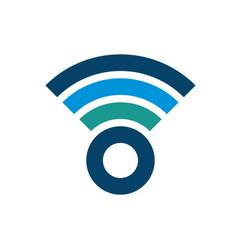 wifi logo design business symbol concept vector image
