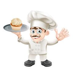 cake baker vector image vector image