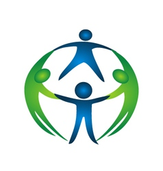 Group of teamwork logo vector image vector image