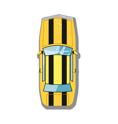 muscle car top view icon vector image