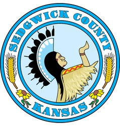 Sedgwick County Seal vector image