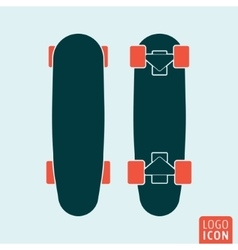 Skateboard icon isolated vector image vector image